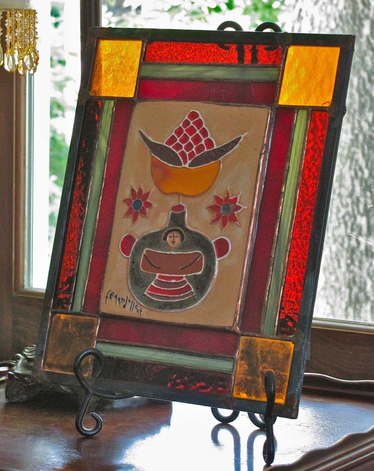 VBT_stained glass picture frame