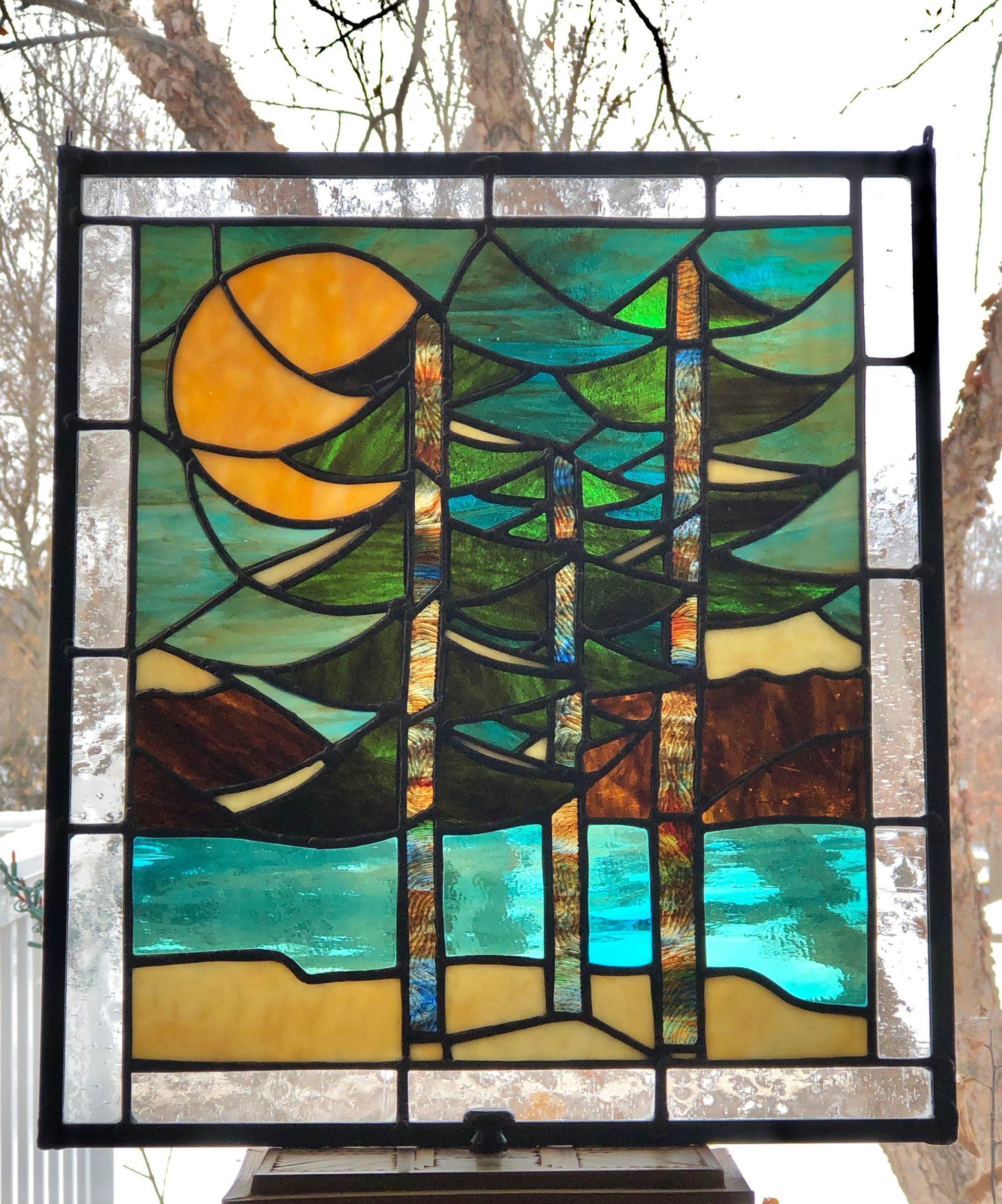 Moonlit Winter Pines