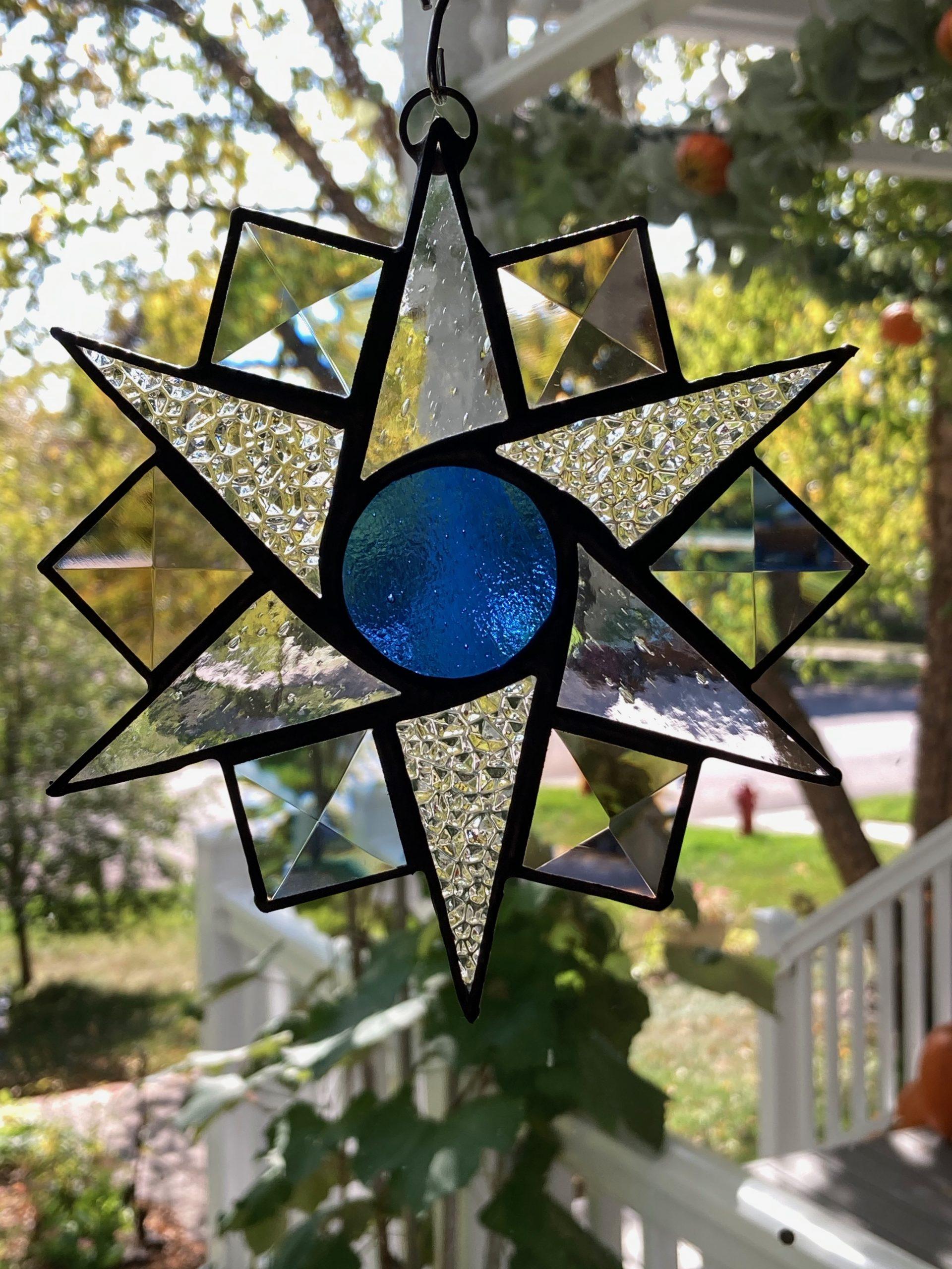 Blue Center Starburst